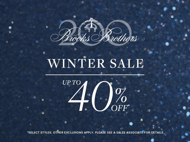 Brooks Brothers- Winter Sale. January 4 72e250fd594