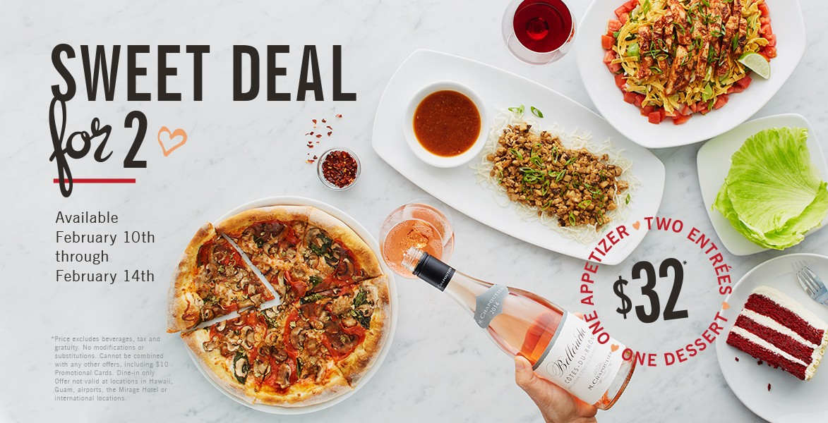 California Pizza Kitchen   Sweet Deal For Two