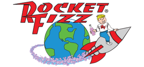 Rocket Fizz Soda Pop and Candy Shop Logo
